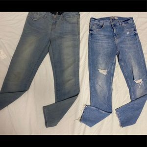 2 piece jeans brand guess size 30 /and Zara size 8